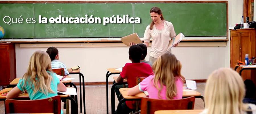 Qué es la educación pública